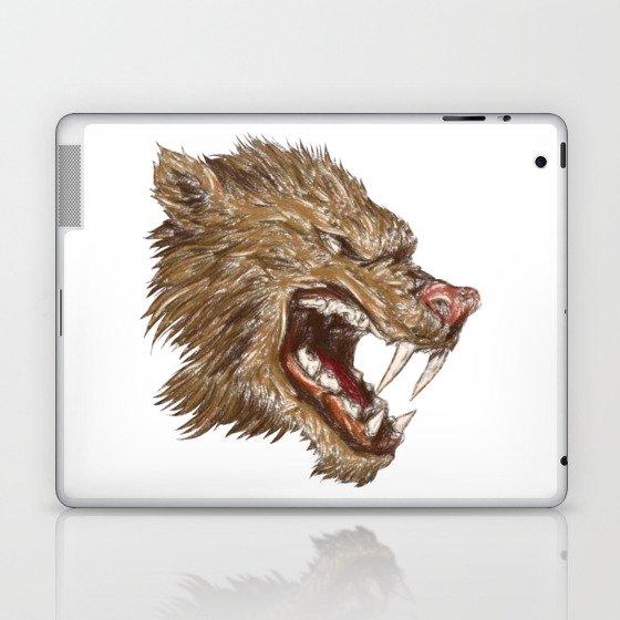 Head with sharp teeth Laptop & iPad Skin
