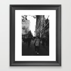 Walk Framed Art Print