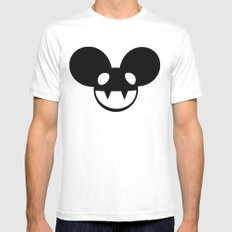 deadmau5 Mens Fitted Tee SMALL White