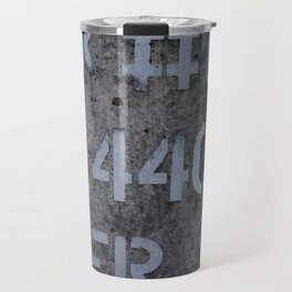 Industrial Tank Sign Travel Mug