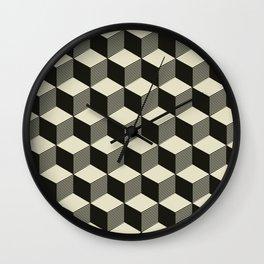 Metatron Cubes 02 Wall Clock