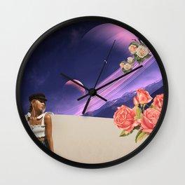 PURPLE MATTER Wall Clock