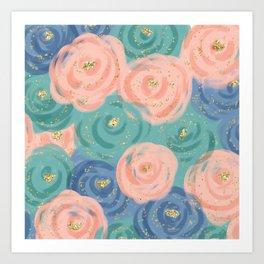 Prim Florals Art Print