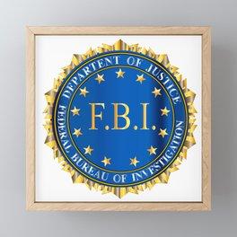 FBI Spoof Seal Framed Mini Art Print