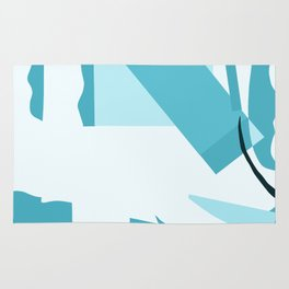 Matisse Inspired Teal Collage Rug