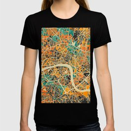 London Mosaic Map #3 T-shirt