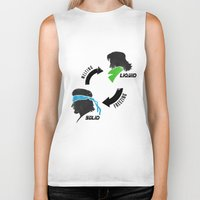 metal gear solid Biker Tanks featuring Metal Gear: Solid Liquid States by Bendragon