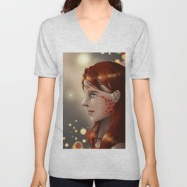 Fire eyes Unisex V-Neck