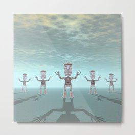 Characters Made of Stone Metal Print