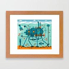 Cute Colorful Robot Underwater Scene Framed Art Print
