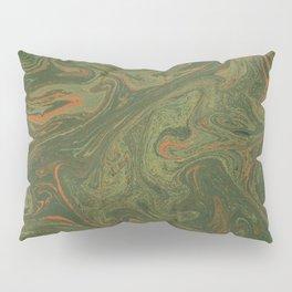 Marbled Green paper Pillow Sham