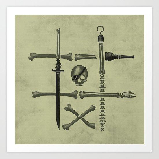 Noughts & Crossbones Art Print