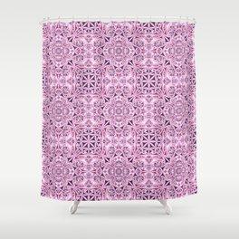 Pink kaleidoscope wallpaper Shower Curtain