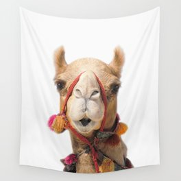Decorated Camel Wall Tapestry