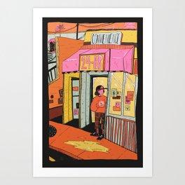 24 hr convenience Art Print