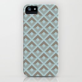 Two-toned square pattern iPhone Case