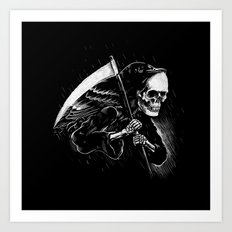 DEATH WILL HAVE HIS DAY Art Print