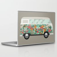 van Laptop & iPad Skins featuring Hippie van by eARTh
