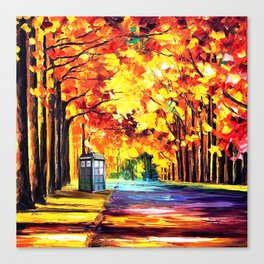 Tardis Stay Alone Canvas Print