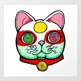 Good Luck Dizzy Cat Odyssey by Donut Matter Art Print