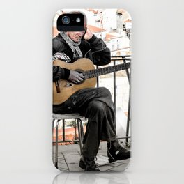 The guitarist, Lisbon, Portugal iPhone Case