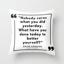 69  | David Goggins Quotes | 190901 Throw Pillow