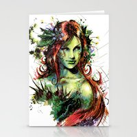 poison ivy Stationery Cards featuring Poison Ivy by Vincent Vernacatola