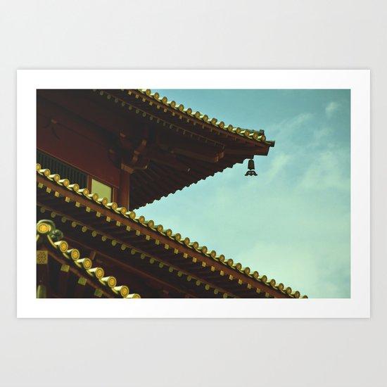 tile roof Art Print