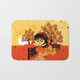 Autumn Girl Bath Mat
