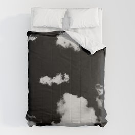 black & white clouds #1 Comforters