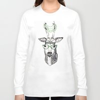 hippie Long Sleeve T-shirts featuring Hippie Deer! by Sagara Hirsch
