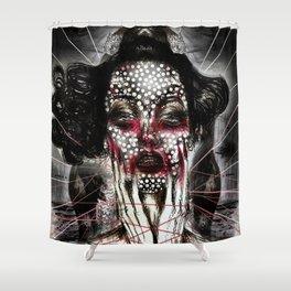 Black Siren Shower Curtain