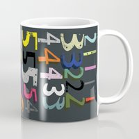 numbers Mugs featuring Numbers by Arken25