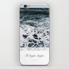 Ocean. To begin, begin. Wordsworth iPhone Skin