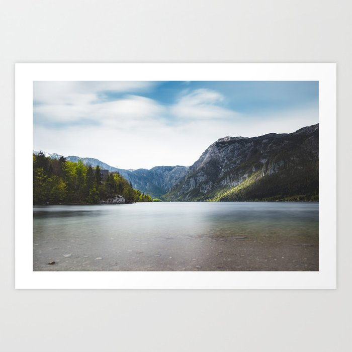 Lake Bohinj, Slovenia Art Print