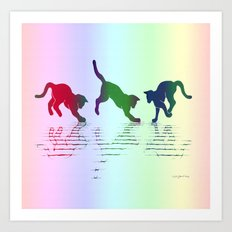 CATS RAINBOW Art Print