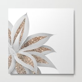 Agave Finesse Glitter Glam #9 #tropical #decor #art #society6 Metal Print