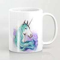 unicorn Mugs featuring Unicorn by Pendientera