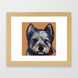 Rigoletto the cairn terrier Framed Art Print