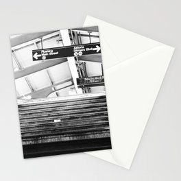 Subway Station in Astoria, Queens in March Stationery Cards