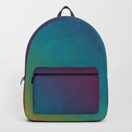 Bohek Bubbles on Rainbow of Color - Ombre multi Colored Spheres Backpack