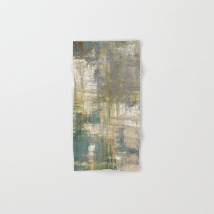 Abstract Art Abstract Painting Color Block Bright Colors Geometric Print Modern Painting Hand Bath Towel