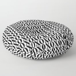 Black XOXO Floor Pillow