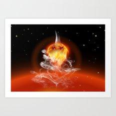 Feuerfisch - fire fish Art Print