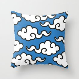 Modern Popart Summertime Clouds - retro ethnic tribal aztec 80s 90s pop-art minimal nature tropical Throw Pillow