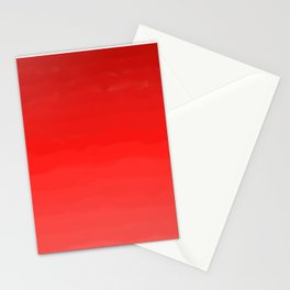 Glowing Red Lipstick Stationery Cards