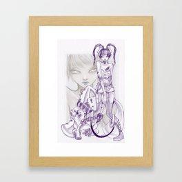 8 easy steps Framed Art Print