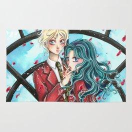 Haruka and Michiru - Sailor Moon tribute Rug