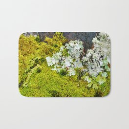 Tree Bark with Lichen#8 Bath Mat