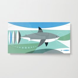 Keep Moving Forward (great White Shark) Metal Print